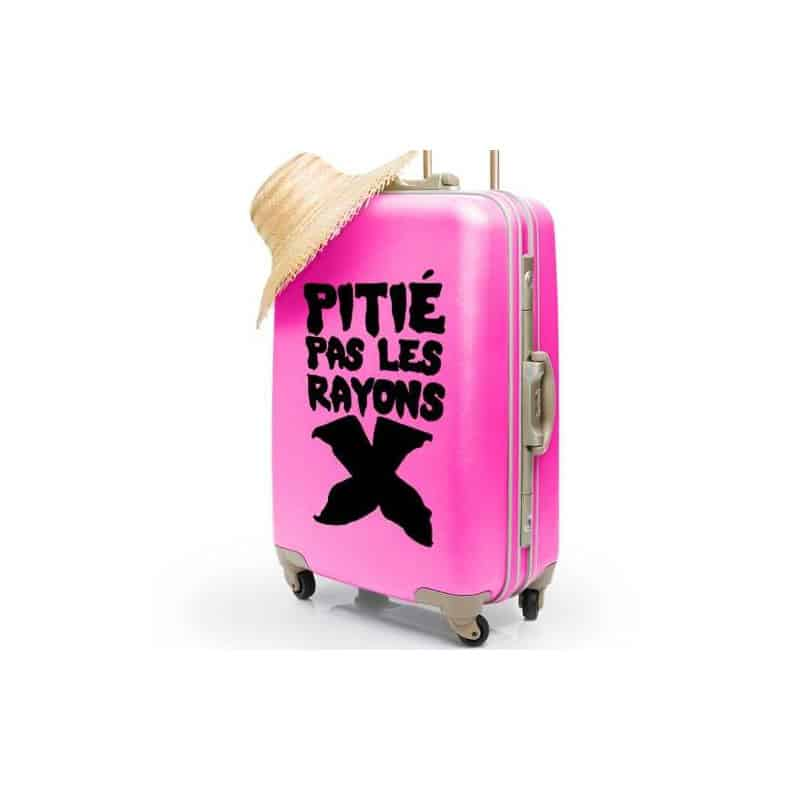 """STICKER VALISE """"PITIE PAS LES RAYONS X """" SV0007"""