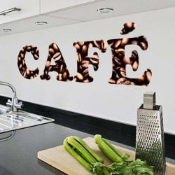 """STICKERS TEXTE """"CAFE"""" (A0241)"""