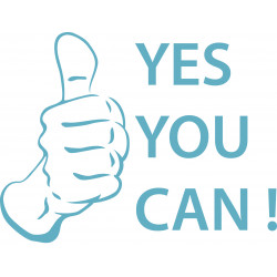 "STICKERS ABATTANT ""YES YOU CAN !"" (ABA0025)"