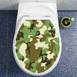 STICKERS WC CAMOUFLAGE VERT (ABA_0001)