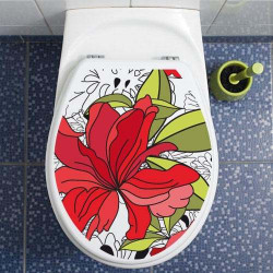 stickers wc toilette HIBISCUS (ABA_0002)