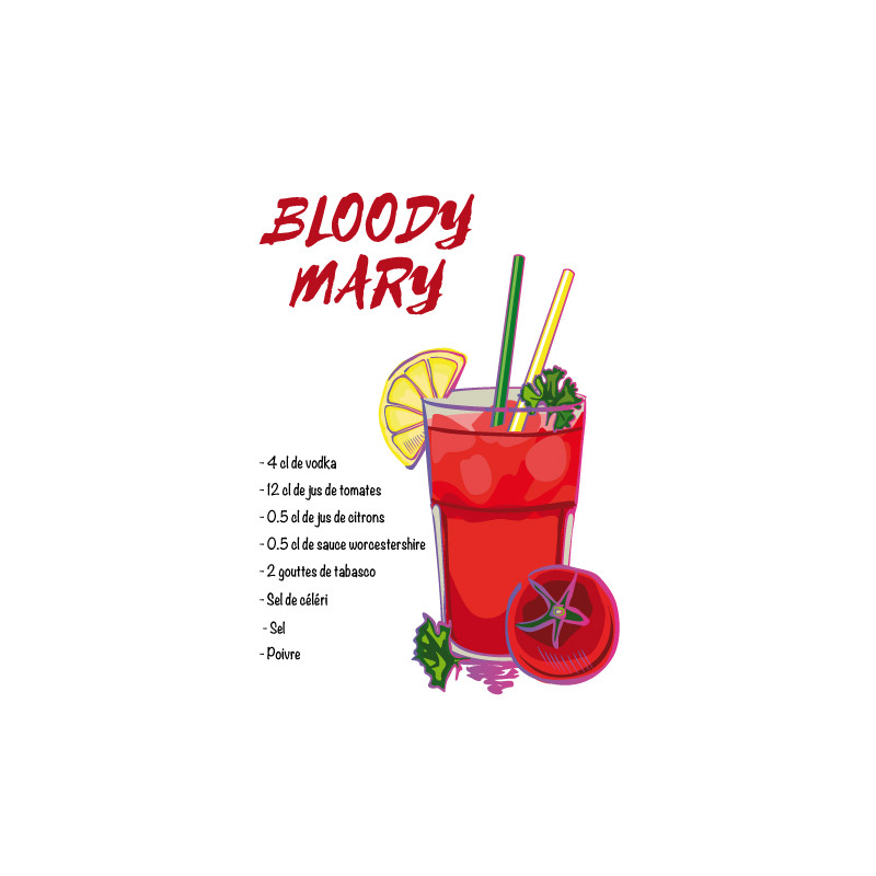 RECETTE COCKTAIL BLOODY MARY