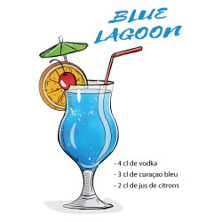 RECETTE COCKTAIL BLUE LAGOON