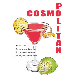 RECETTE COCKTAIL COSMOPOLITAIN