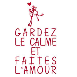 "Stickers Citation ""Gardez le calme"" (I0136)"