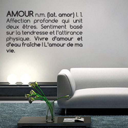 STICKER DEFINITION AMOUR (I0141)