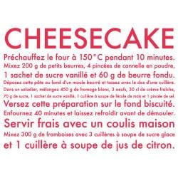 STICKER RECETTE CHEESECAKE (I0175)