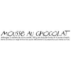 STICKER RECETTE MOUSSE AU CHOCOLAT (I0176)