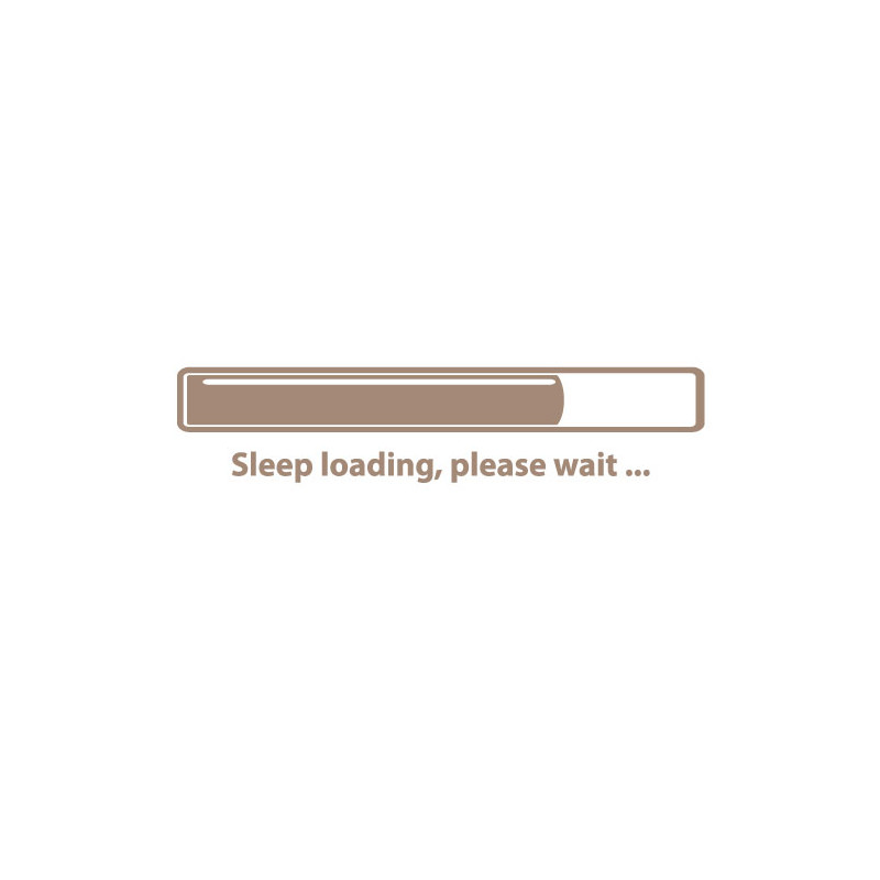 STICKER TETE DE LIT SLEEP LOADING (O0070)