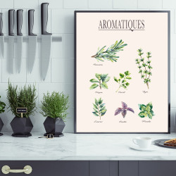 POSTER HERBES AROMATIQUES (POST0025)