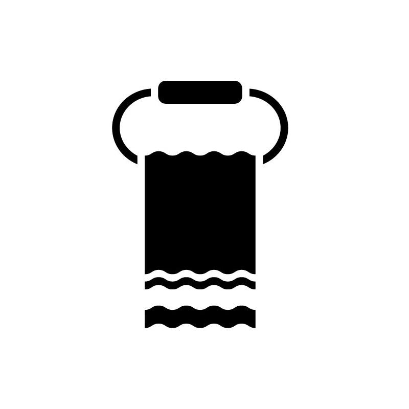 STICKERS PORTE SERVIETTE SALLE DE BAIN POUR PORTE DE DOUCHE (V0012)