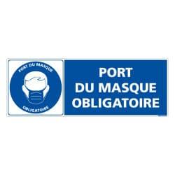 ADHESIF DE SIGNALISATION COVID19 - MESURES DE PREVENTION - GESTES BARRIERES - PORT DE MASQUE OBLIGATOIRE (COVID011)