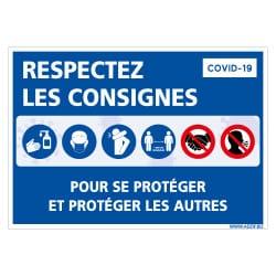 PANNEAU DE SIGNALISATION PREVENTIF COVID -19 SUR LES CONSIGNES DE SECURITE DU CORONAVIRUS (COVID020)†