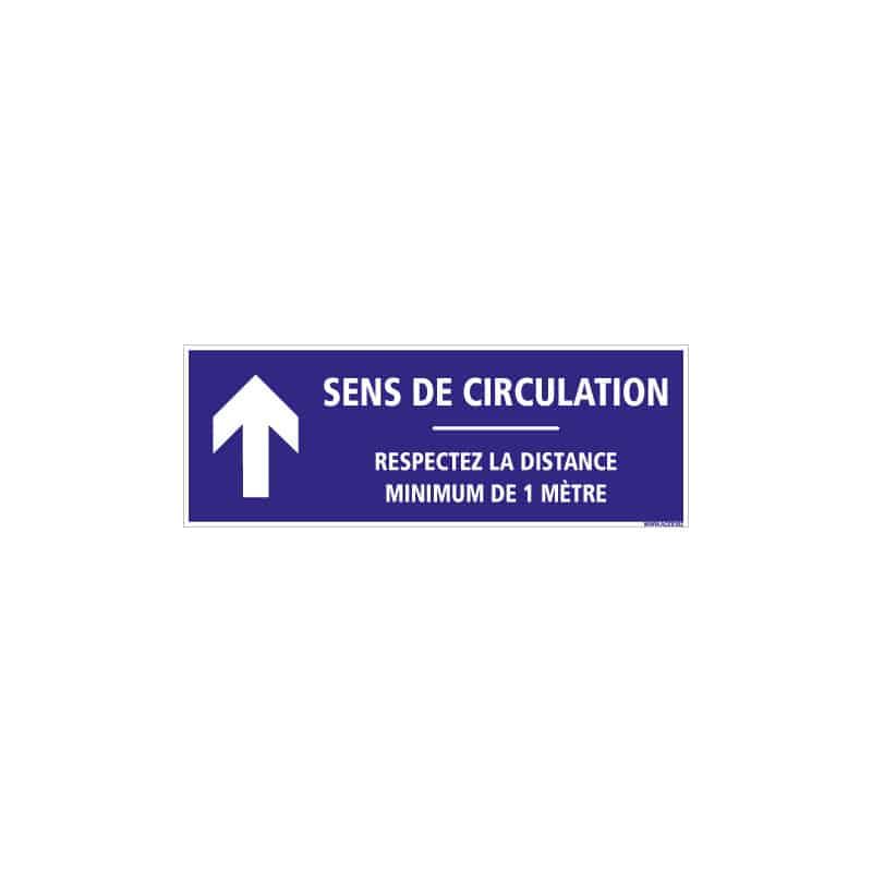 SIGNALISATION DE SOL ADHESIVES AVEC COLLE FORTE CORONAVIRUS - SENS DE CIRCULATION FLECHE VERS LE HAUT - GESTES BARRIERES COVID19