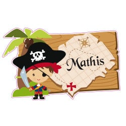 STICKER PERSONNALISABLE PIRATE (E0286)