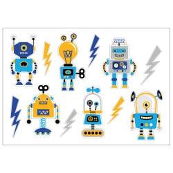 STICKER PLANCHE ROBOTS RIGOLOS (E0304)