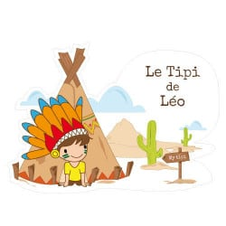 STICKER PORTE PRENOM NEW TIPI DE... (E0311)