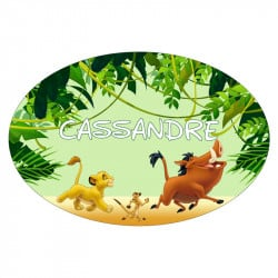 STICKER PLAQUE DE PORTE PERSONNALISABLE LION KING (E0315)