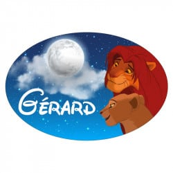 STICKER PLAQUE DE PORTE PERSONNALISABLE MUFASA (E0316)