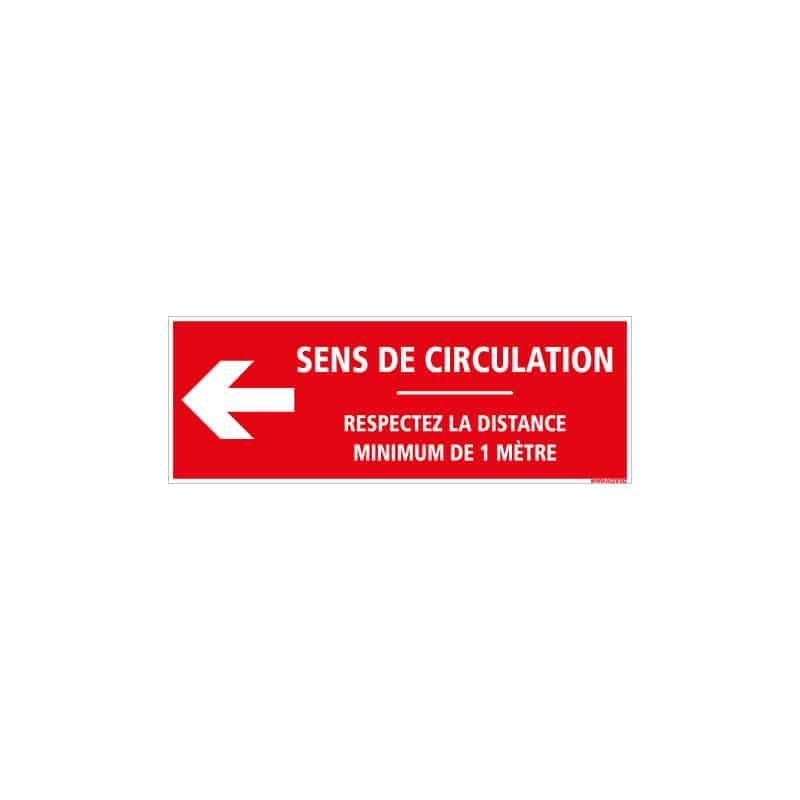 SIGNALISATION DE SOL CORONAVIRUS AVEC COLLE FORTE - GESTES BARRIERES COVID19 - RESPECTER UNE DISTANCE DE SECURITE DE 1M - SENS D