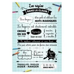 STICKER LES REGLES DE LA CLASSE (ECOLE0013)