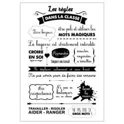 STICKER LES REGLES DE LA CLASSE (ECOLE0014)