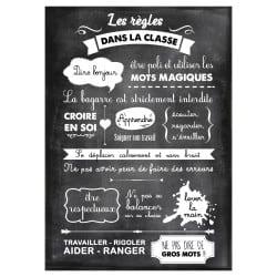 STICKER LES REGLES DE LA CLASSE (ECOLE0015)