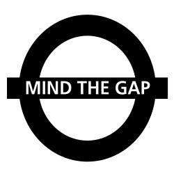 STICKERS MIND THE GAP (F0092)