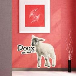 STICKERS ANIMAUX DOUX COMME UN AGNEAU (I0083)