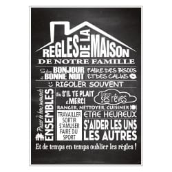 STICKER REGLES DE LA MAISON (I0216)
