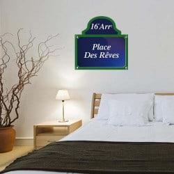 STICKERS PLAQUE DE RUE PLACE DES REVES (K0011)