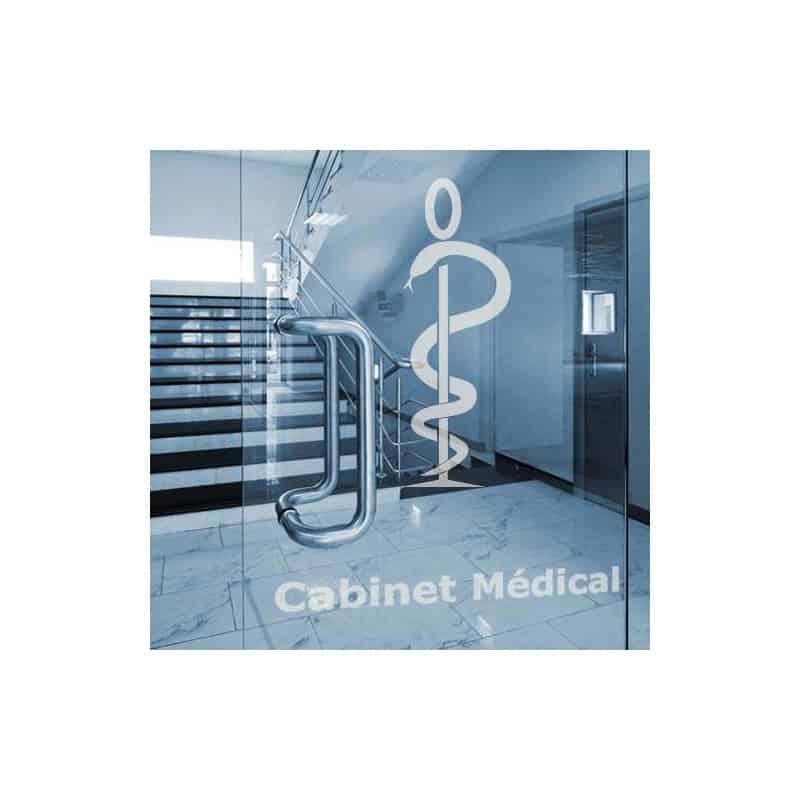 ADHESIF SABLE CADUCEE MEDECINE (K0017)