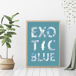 POSTER LETTRE EXOTIC BLUE (POST0058)