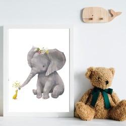 POSTER ELEPHANT ET CANETON (POST0075)