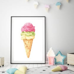 POSTER GLACE FRAISE (POST0079)