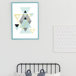 POSTER ABSTRAITS TRIANGLES (POST0105)