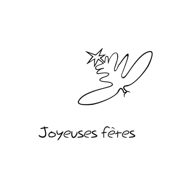 "STICKERS DESSIN ""JOYEUSE FETE"" PLUME (O0106)"