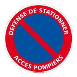 PANNEAU DEFENSE DE STATIONNER - ACCES POMPIERS