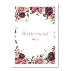 POSTER ROSE PERSONNALISABLE (POST0173)