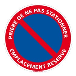 INTERDICTION DE STATIONNER - EMPLACEMENT RESERVE