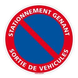 SIGNALISATION STATIONNEMENT GENANT - SORTIE VEHICULES