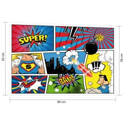 STICKER TETE DE LIT SUPER HEROS (TETE_LIT_021)