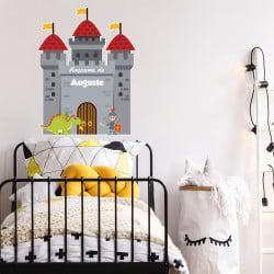 STICKER TETE DE LIT POUR CHAMBRE D'ENFANT - LE ROYAUME - PERSONNALISABLE AVCE LE PRENOM DE VOTRE ENFANT (TETE_LIT_036)