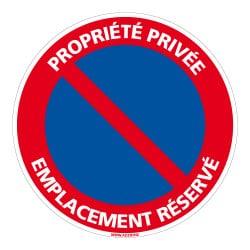 PANNEAU PROPRIETE PRIVEE - EMPLACEMENT RESERVE