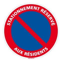 PANNEAU INTERDICTION DE STATIONNER - RESERVE AUX RESIDENTS