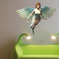 STICKERS FILLE FEERIE 3D (E0200)