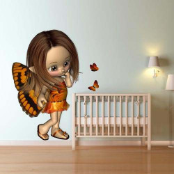 STICKERS ENFANT ELFE 3D (E0224)