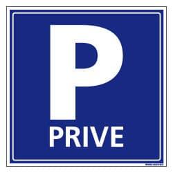 PANNEAU OU ADHESIF PARKING PRIVE - AVEC UN FORMAT DE 250X250 MM