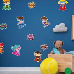 STICKER PLANCHE ENFANTS HEROS (E0306)