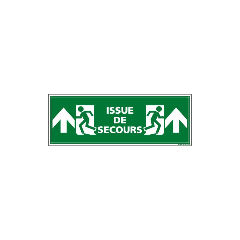 PANNEAU ISSUE DE SECOURS VERS LE HAUT - AVEC UN FORMAT DE 210X75 MM